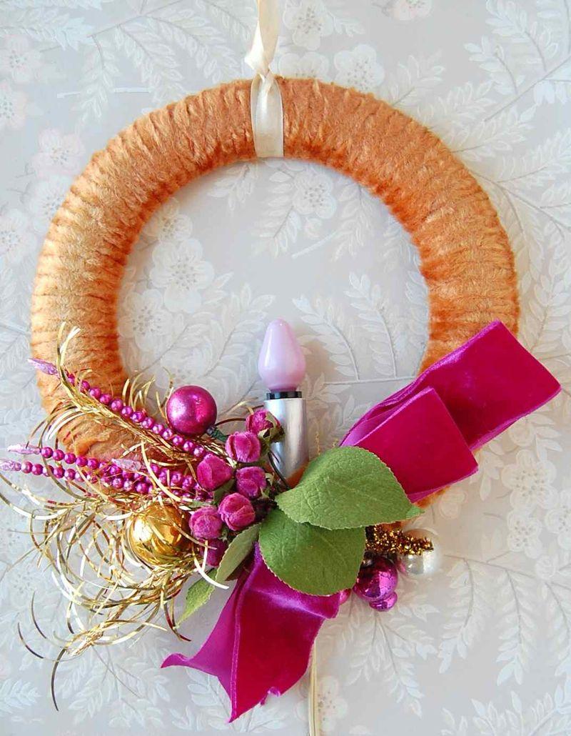 Wreath, Pink