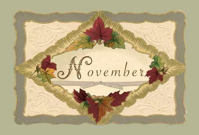 November Post card