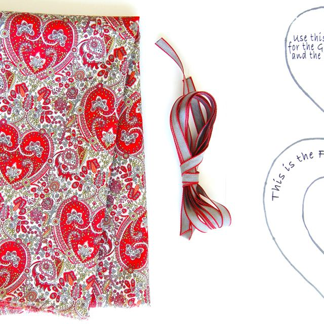 Materials Liberty Heart Sachets