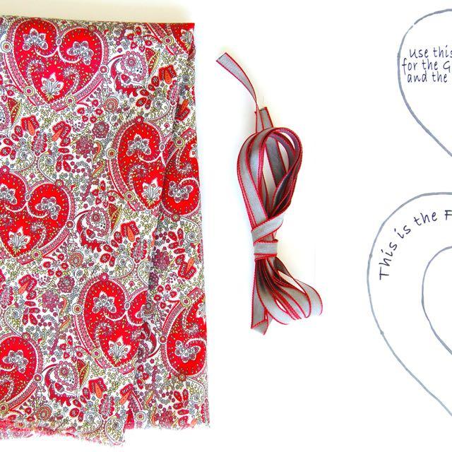 Materials Liberty Heart Sachets