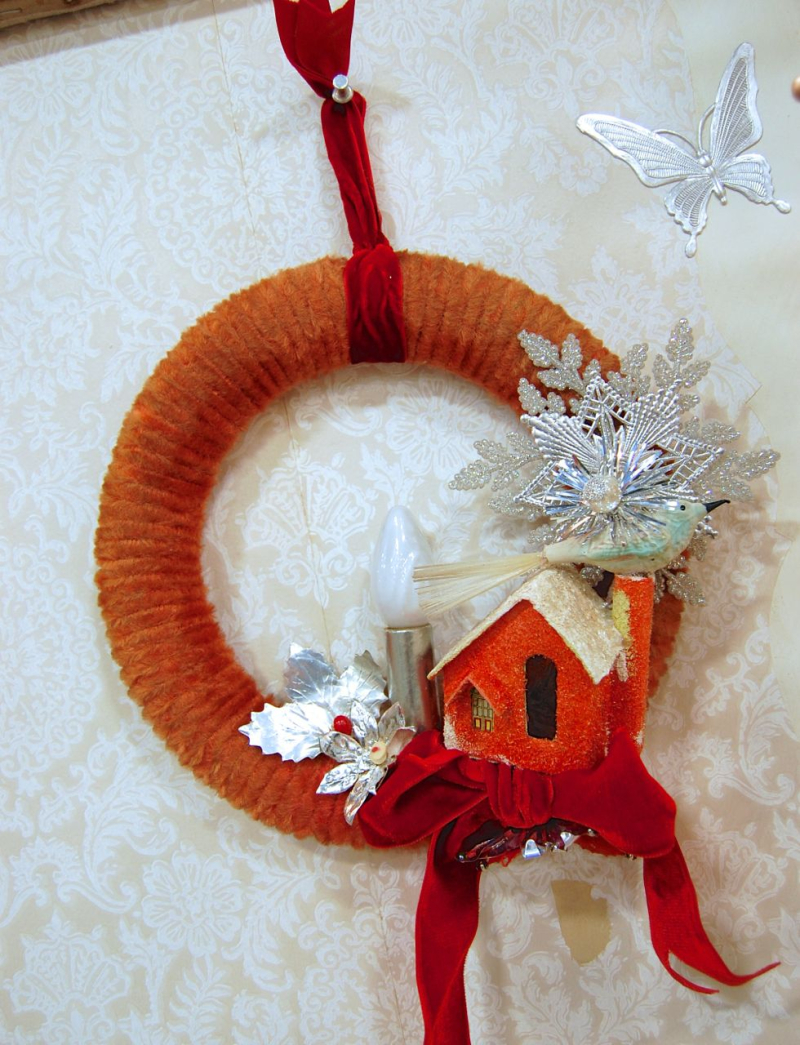 Pink-Explosion-Chenille-Wreath