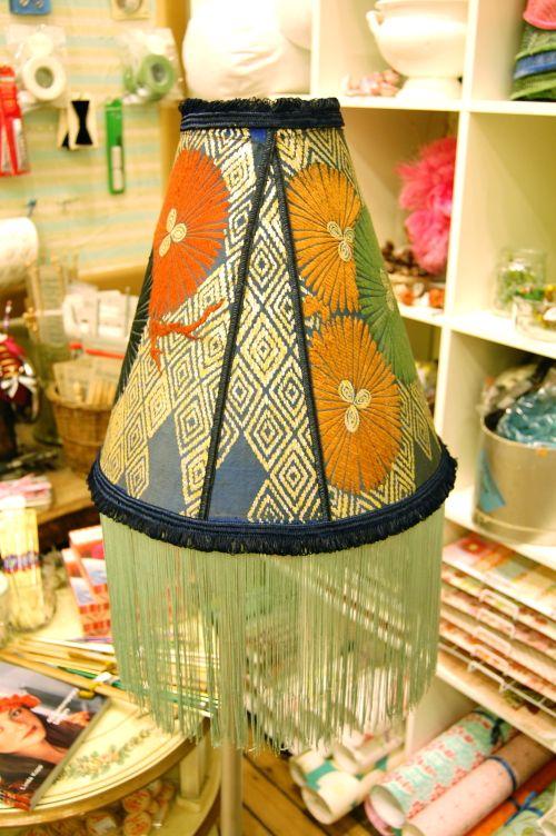 Kimono Lampshade with long Fringe 2