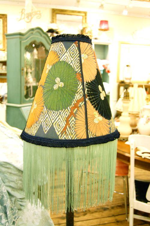 Kimono Lampshade with long Fringe