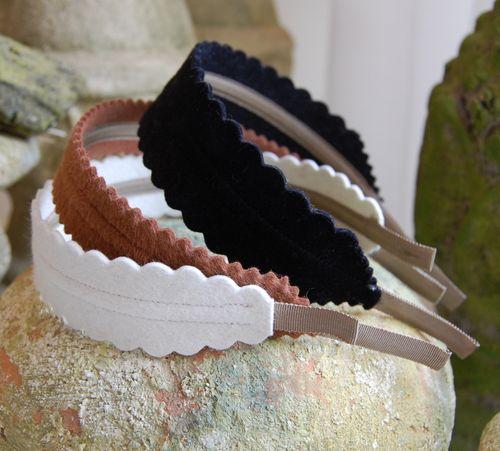 White, Brown & Black Headbands