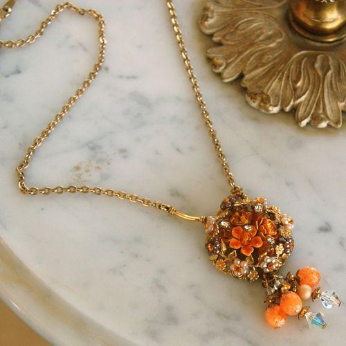 Orange Garden Necklace