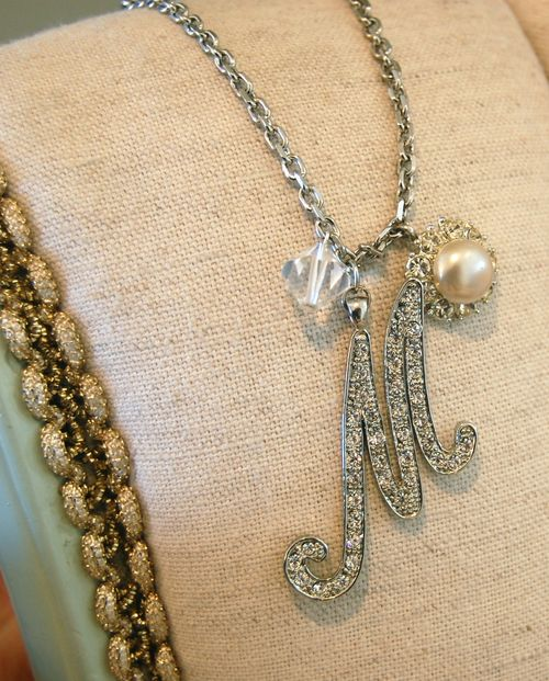Sparkle M Necklace