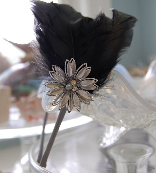 Black Feather Headband