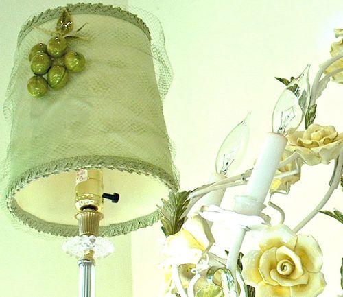 Green Silk Lampshade
